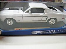 MAISTO 1:18 1968 Ford Mustang GT Cobra Jet DIECAST WHITE