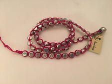 Premier Designs Jewelry ENCOURAGE Antiqued Silver Pink Cord Wrap Bracelet