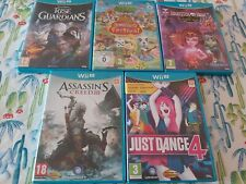 LOTE N 2 NINTENDO WII U WIIU WIU ASSASSINS CREED 3 RISE OF THE GUARDIANS JUST