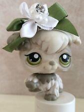 Littlest Pet Shop Dog Poodle White & Grey W Green Eyes #203 SHIPS FREE 9 pics