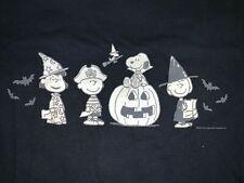 Peanuts Halloween Glow in the Dark Black Shirt Size Small