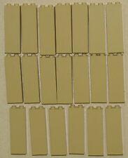 LEGO LOT OF 20 TAN 1 X 2 X 5 PILLARS BRICKS BUILDING SUPPORT PIECES