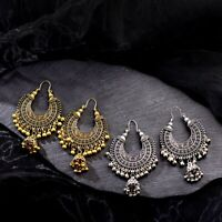 New Fashion Tribal Oxidized Gold Silver Jhumka Earrings Indian Bollywood Jewelry