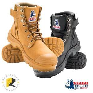 Steel Blue Argyle Zip Bump Cap Safety Toe Work Boots 332152