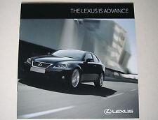 Lexus . IS . Lexus IS Advance . September 2011 Sales Leaflet