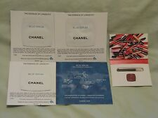Chanel 'Blue Serum' Set of 4 Samples & Coco Rouge Lip Gloss Sample Packet NEW