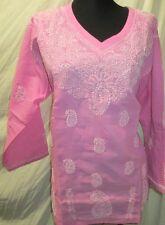 Elegance chikan embroidery   coton  kurta/top size 40