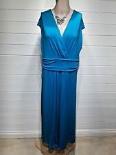 Dash Dress ~ Size 16 ~ Turquoise Blue ~ Cap Sleeves - Casual, Everyday - 1084