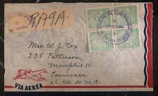 1952 Encarnacion Paraguay Airmail Official cover to Memphis TN USA