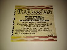 RARE 1993 THE BREEDERS Concert Ticket / Glasgow Barrowland Kim Deal Pixies