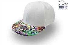 Cappellino Atlantis Bianco Snap Colour Graffiti Moda Rap Rapper 655/2014