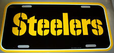 Pittsburgh Steelers NFL team plastic License Plate, made in the USA, STENCIL