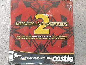 Castle Creations Mamba Monster 2 Waterproof 1/8 Scale Brushless Combo 2200Kv New