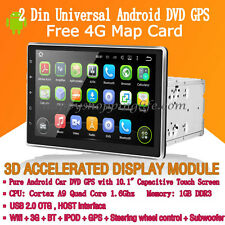 "10.1"" 2 Din Universal Android 5.1 Car DVD Radio GPS Navigation Wifi 3G Quad Core"