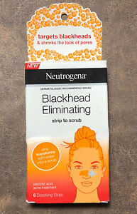 Neutrogena Blackhead Eliminating Strip to Scrub Salicylic Acid Treatment 6 Pack