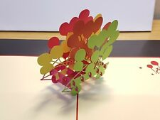 Colourful Baloons Cart in 3D Pop Up Birthday Card.