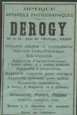 PARIS QUAI DE L' HORLOGE DEROGY PUBLICITE OPTIQUE APPAREILS PHOTO