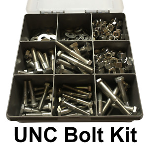 UNC Stainless Steel Bolt and Nut Kit 1/4 and 5/16 150 pieces Bolts Nuts Washers