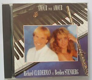 """RICHARD CLAYDERMAN & BERDIEN STENBERG 1989 ╚ CD """"DELPHINE""""╚  AMOUR pour AMOUR"""