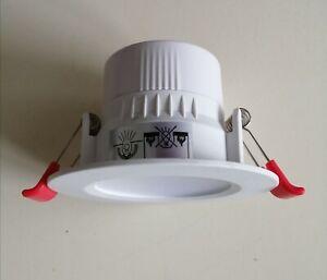 3x Downlights 5w LED 3000k warm white 68mm cutout 400 Lumens
