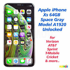 Apple iPhone Xs 64GB Space Gray A1920 AT&T Verizon T-Mobile Sprint Unlocked