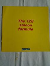 Fiat 128 Saloon brochure c1970's ref 4231