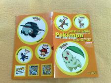 Sticker Sammelsticker Anime Stickerbogen Pokemon N-Zone klein