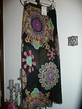 DESIGUAL Long skirt ~ 6 ~ Bright CHRISTIAN LACROIX Geometric Floral $114.00