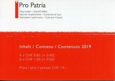 Switzerland 2019 MNH Pro Patria Swiss Flag 10v Booklet Flags Ntl Emblems Stamps