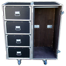 4 Drawer Double Sided Huge Wardrobe Chest Ata Case Trunk w/Wheels