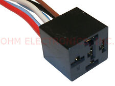 New 12V Dc 5 Wire Bosch Style Relay Socket And Harness - Vanco Harn1