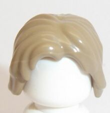 Lego Shoulder Wavy Hair x 1 Dark Tan for Minifigure