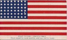 """Fight Today United Free..."" Large U.S. Flag Patriotic Postcard"