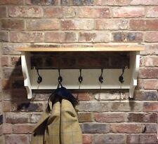 Shabby Chic/coat Rack/coat Hanger/shelf/cabinet/wall Unit In New White