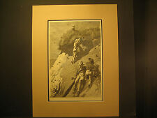 Winslow Homer N.A., Raid On A Swallow Colony, Engraving 1874