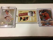 2012 Prime Cuts #7 Buster Posey 1/1 Timeline Materials Prime Patch! (3) Cards!
