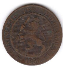 NETHERLANDS  2 1/2 CENTS 1880 COIN