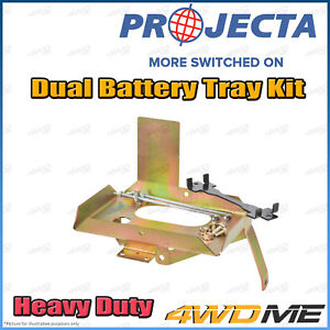 Mitsubishi Triton MQ 4WD PROJECTA Dual Battery Tray Auxiliary Complete Kit