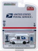 Greenlight 1/64 USPS USPS LLV with Mailbox & Mail Carrier Figure 51280