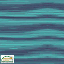 Stoff Avalana Jersey Fabric - Classic Teal and Navy Stripes