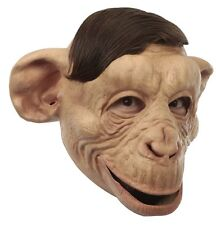 Monkey Chimp Latex Mask with Open Top Jungle Halloween Adult Costume Accessory
