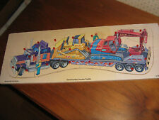 Jumbo Wooden Pegged Puzzle 24 pieces Construction Tractor Trailer ages 3 & up