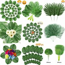 Lots Artificial Palm Tree Faux Leaves Green Plants Greenery for wedding Decor