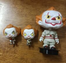 Pennywise Mini Figures funko and movie theater bubble head drink topper