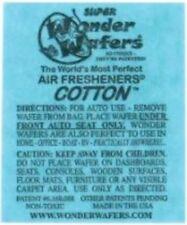 16- Wonder Wafers COTTON ~ Scent~Amazingly Fresh~ Air Freshener Home Auto