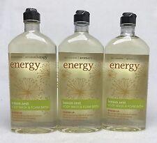 3 Bath & Body Works Energy Lemon Zest Aromatherapy Body Wash & Foam Bath