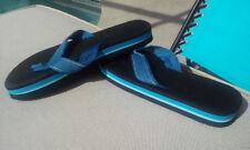 '80s Flip Flops Foam Striped  flip flops men's size 9 /women's 10