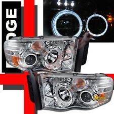 02-05 Dodge Ram 1500 03-05 2500 3500 Pickup Halo Projector Headlights RH + LH