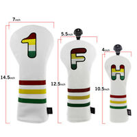 Golf Wood Cover Set Driver/Fariway/Hybrid Headcover for Titleist Taylormade Ping