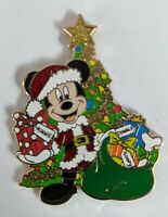 Disney 2018 Christmas Holiday Mickey Dressed As Santa With Present Pin